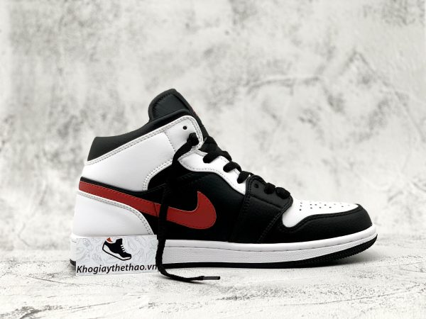 Nike Air Jordan 1 Mid Black Chile Red rep