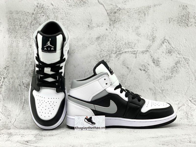 Nike Air Jordan 1 Mid trắng xám