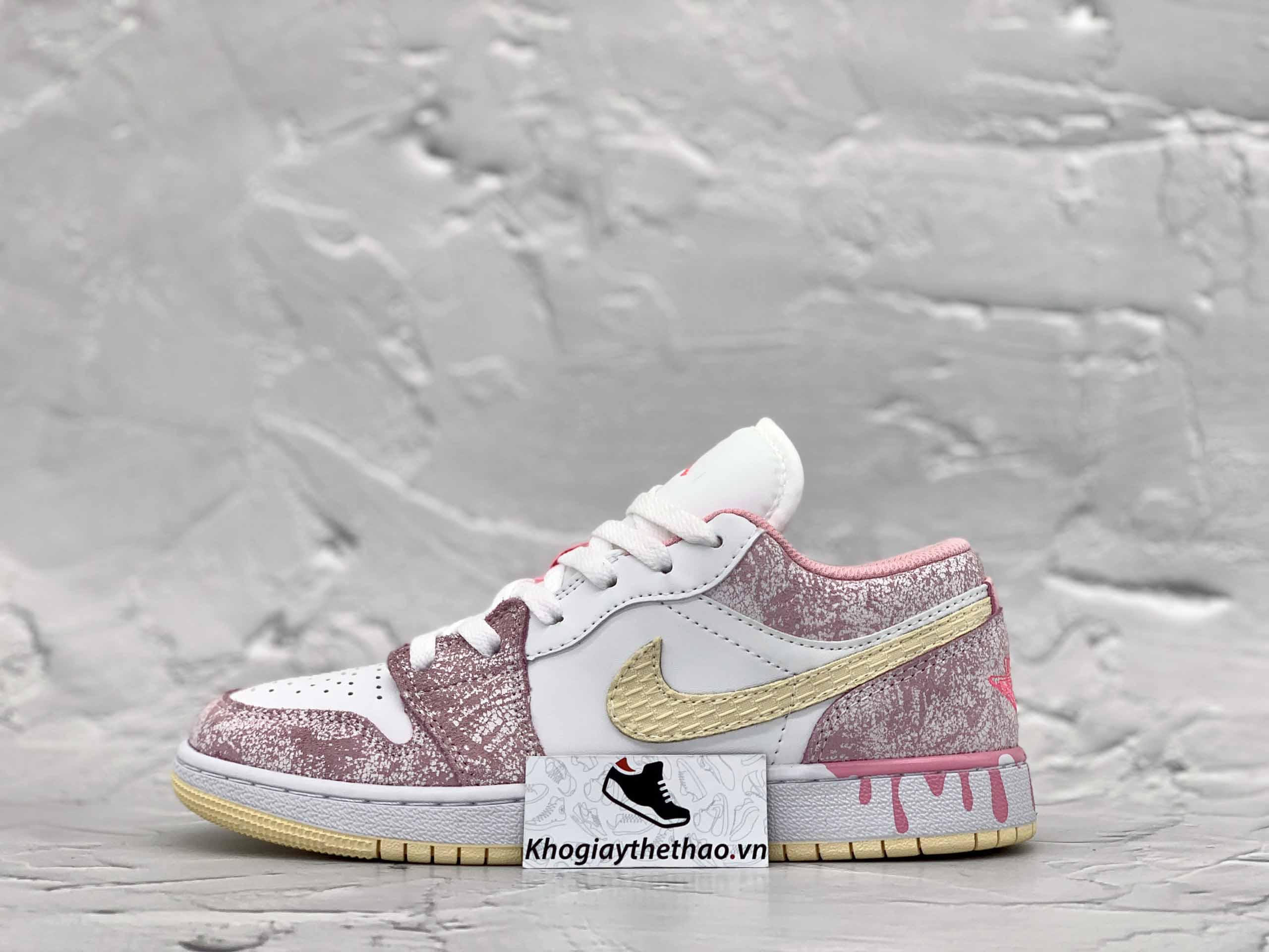 Giày Jordan 1 Low Paint Drip
