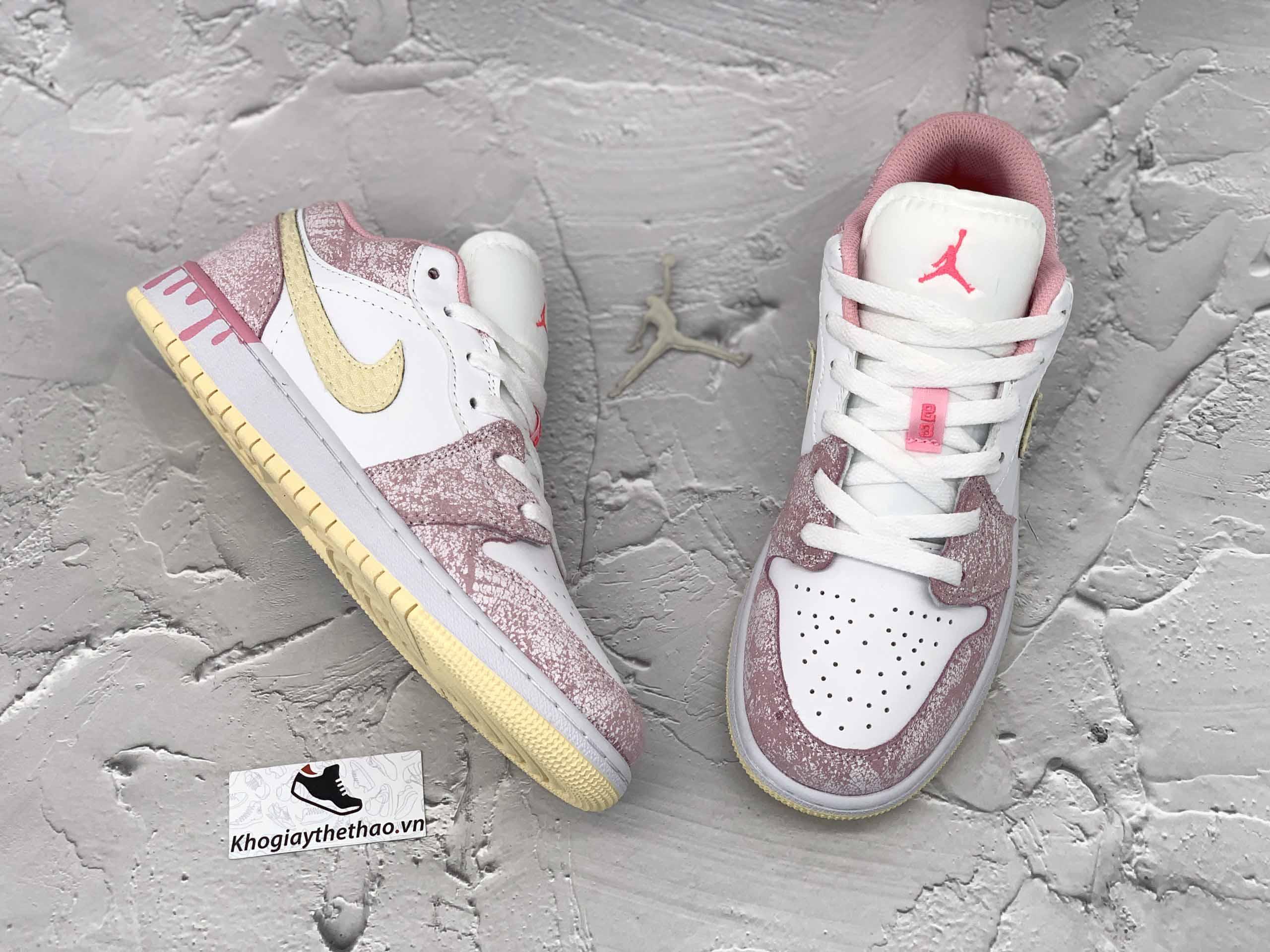Giày Nike Air Jordan 1 thấp Paint Drip