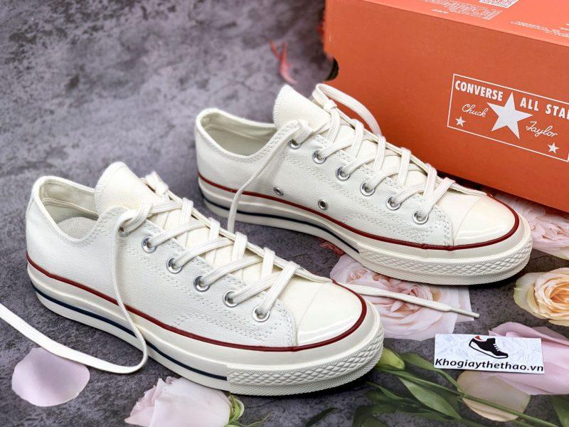 giày converse 1970s thấp trắng kem