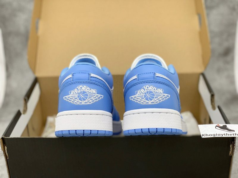 gót giày jordan 1 xanh unc