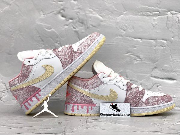 Giày Nike Air Jordan 1 cổ thấp Paint Drip