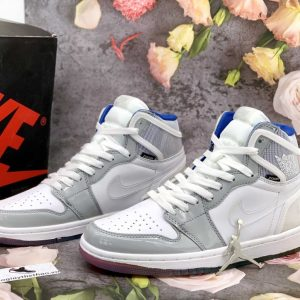 Giày nike air jordan 1 high zoom white racer