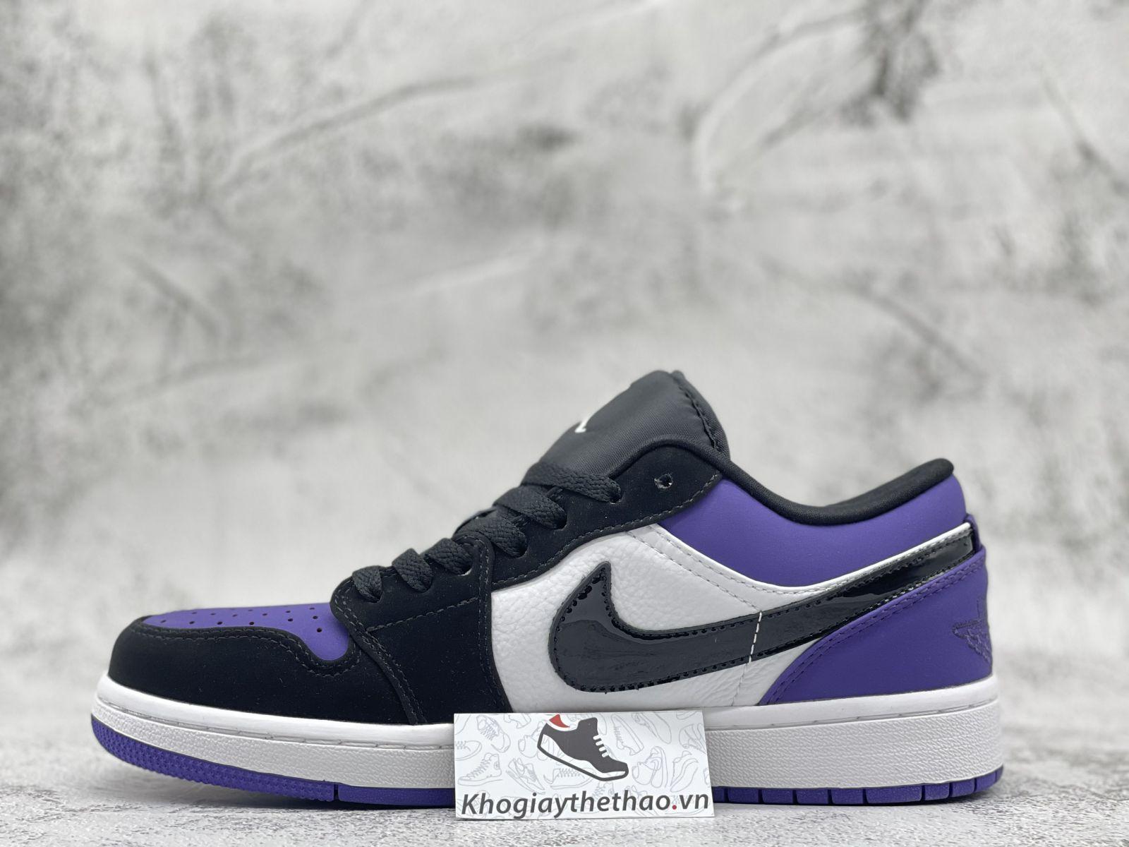 Giày Nike Air Jordan 1 Low 'Court' Purple Black