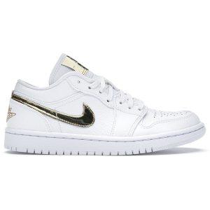 Jordan 1 Low White Metallic Gold 11