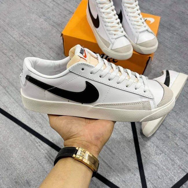 giày Nike Blazer Low 77 Vintage trắng đen rep 1:1