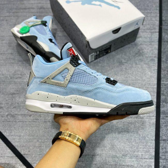 giày jordan 4 xanh university blue