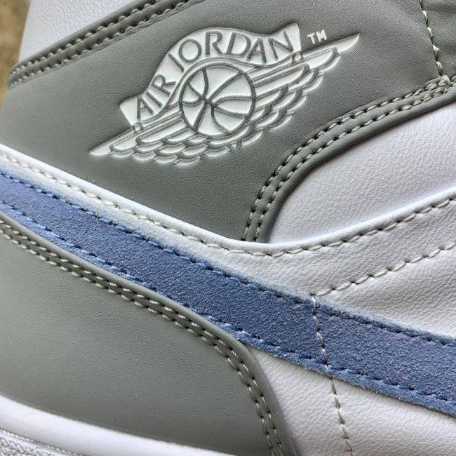 Jordan 1 Mid white aluminum Wolf Grey
