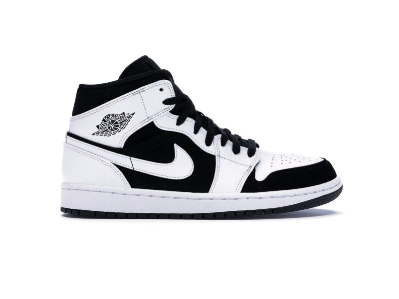 Nike Air Jordan 1 Mid Tuxedo White Black 11