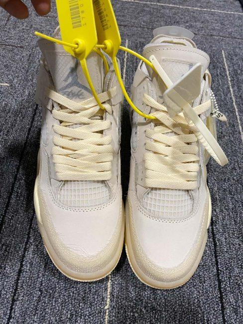 giày Jordan 4 Off White Sail