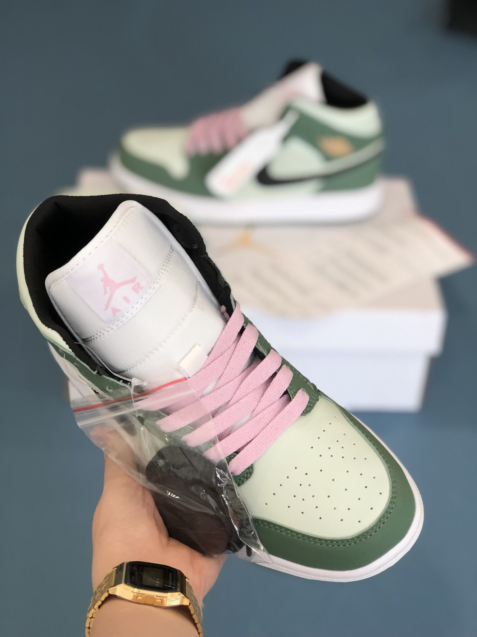 Nike Air Jordan 1 Mid Dutch Green Rep