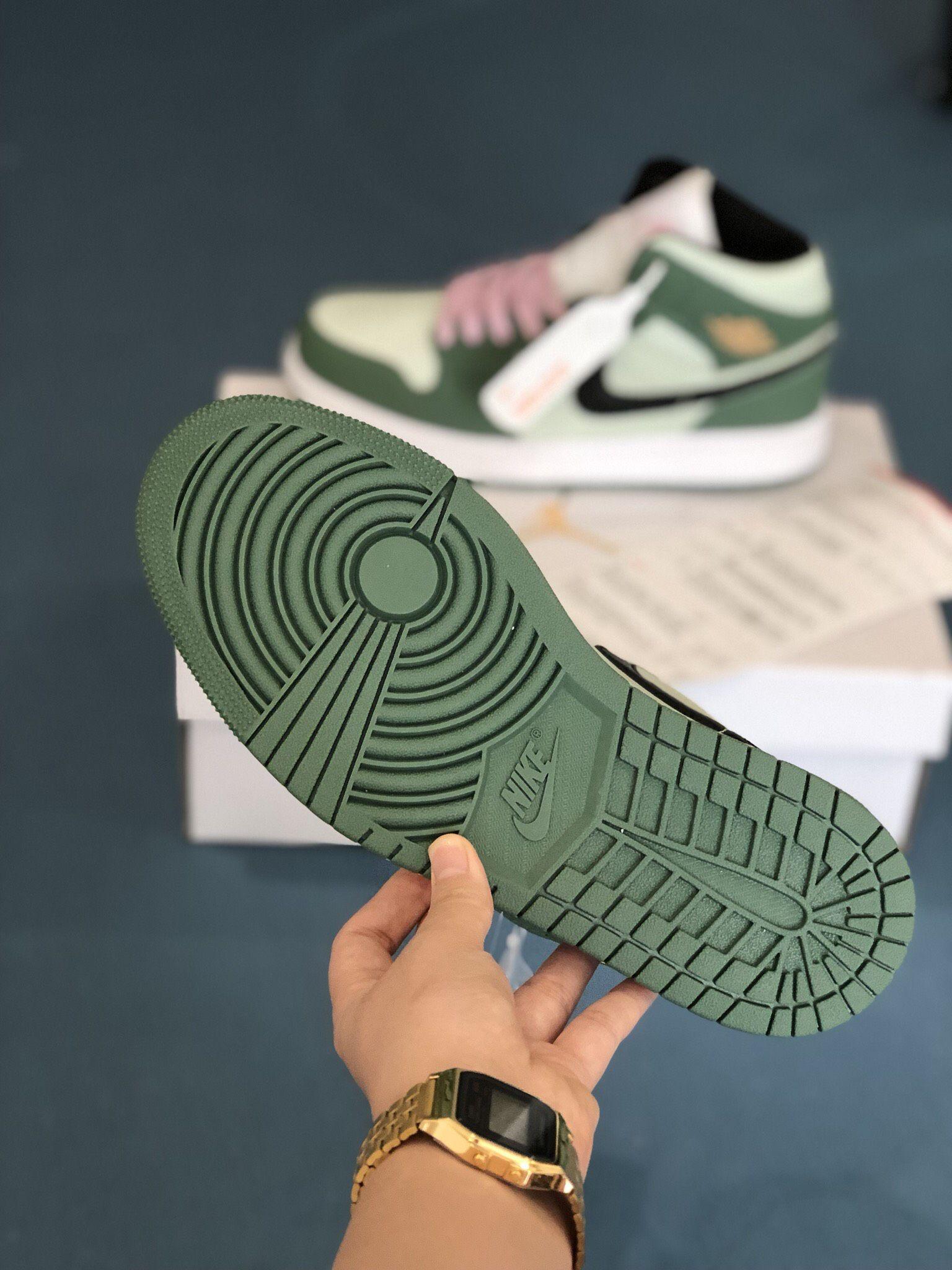 Sole Nike Air Jordan 1 Mid Dutch Green