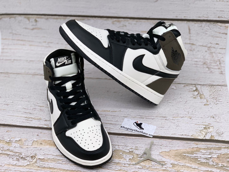 giày jordan 1 cổ cao nâu