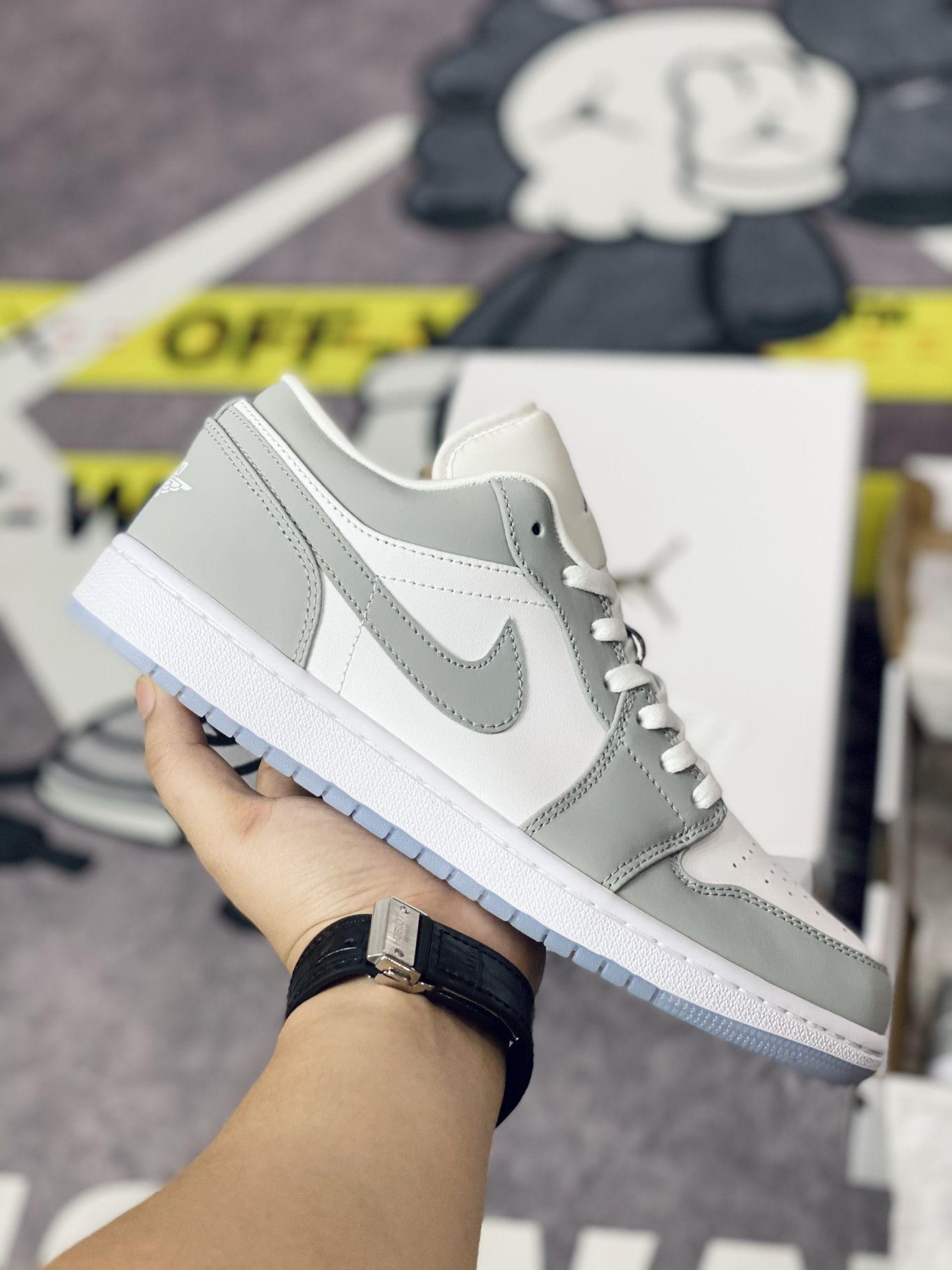 giày Jordan 1 Low Wolf Grey rep 1:1