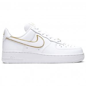 Giày Nike Air Force 1 Trắng Vi�n Gold Like Auth