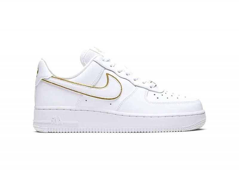 Giày Nike Air Force 1 Trắng Viền Gold Like Auth
