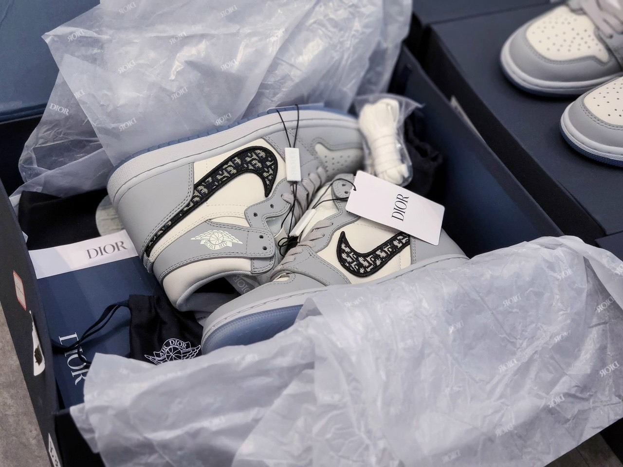 giày nike air jordan 1 high dior cao cổ like auth