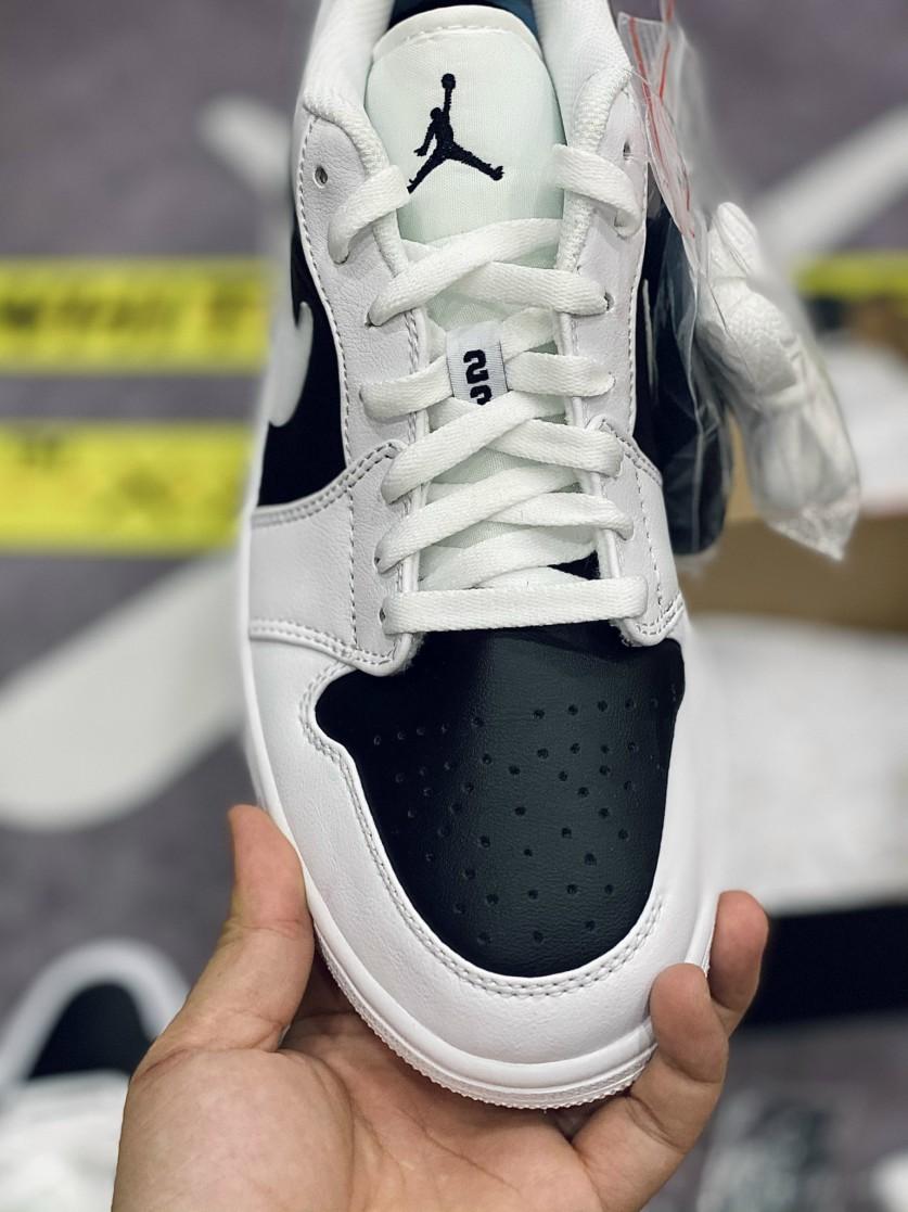 giày air jordan 1 low trắng đen